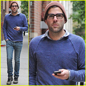 Zachary Quinto: Walking in the West Village