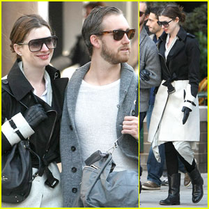 Anne Hathaway: Arm in Arm with Adam Shulman