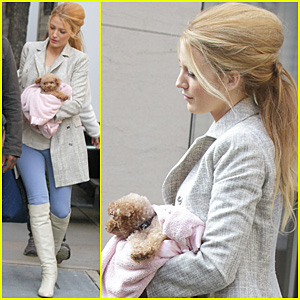Blake Lively: 'Gossip Girl' Set with Penny!