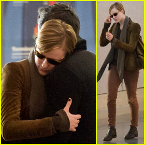 Evan Rachel Wood & Jamie Bell: Loved Up at LAX