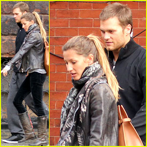 Gisele Bundchen & Tom Brady Hold Hands in Boston
