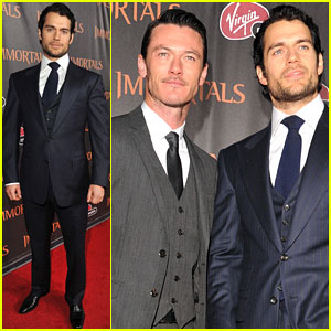Henry Cavill & Luke Evans: 'Immortals' Premiere Guys
