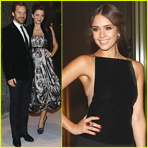 Jessica Alba: Armani Hotel Milano Opening with Maggie Gyllenhaal!
