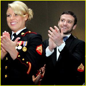 Justin Timberlake: Marine Corps Ball Pic!