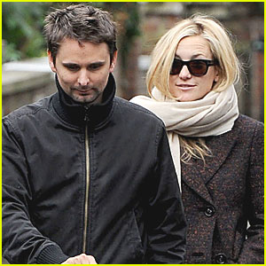 Kate Hudson, Matt Bellamy & Baby Bing Stroll in London