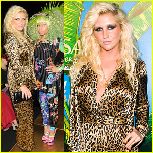 Ke$ha: Versace for H&M Party with Nicki Minaj!