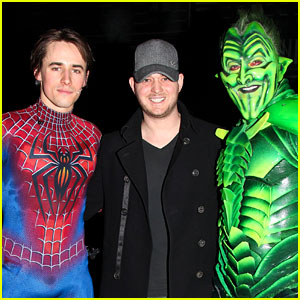 Michael Buble Visits Spider-Man on Broadway!