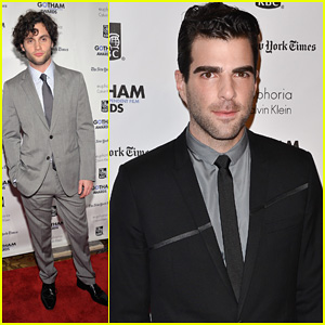 Penn Badgley & Zachary Quinto: Gotham Film Awards!