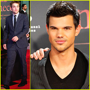 Robert Pattinson & Taylor Lautner: 'Breaking Dawn' in Spain!