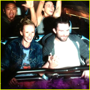 Adam Levine & Anne V: Disneyland Duo!