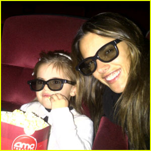 Alessandra Ambrosio: 'Happy Feet 2' With Anja!