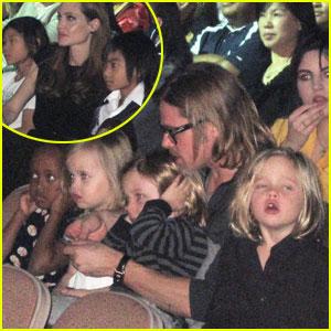 Angelina Jolie & Brad Pitt: Cirque du Soleil Inside Pics!