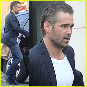 Colin Farrell: Lunch with Mom & Brother Eamon!