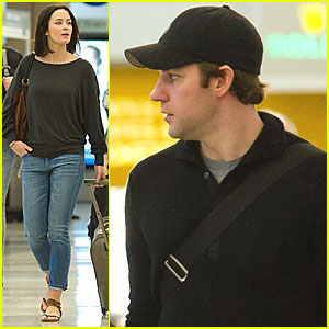 Emily Blunt & John Krasinski Fly with Jimmy Kimmel