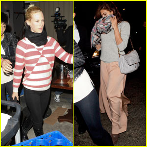 Eva Mendes & January Jones: Mercato di Vetro Dinner