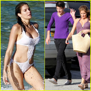 Stephanie Seymour & Harry Brant: St. Bart's Vacation!