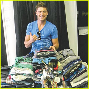 Zac Efron Donates Clothes To Charity!