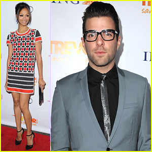 Zoe Saldana: Trevor Project Live 2011 with Zachary Quinto!