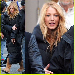 Blake Lively: 'Gossip Girl' Set With Mom Elaine!