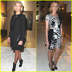Cameron Diaz: Versace Show with Diane Kruger!