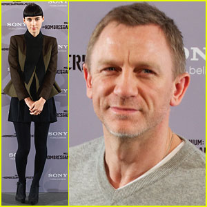 Daniel Craig &#038; Rooney Mara: 'Dragon Tattoo' in Madrid
