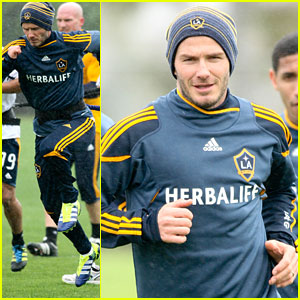 David Beckham: Back to Practice with the LA Galaxy!