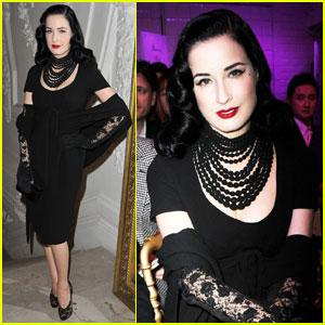 Dita Von Teese: Jean Paul Gaultier Show in Paris!