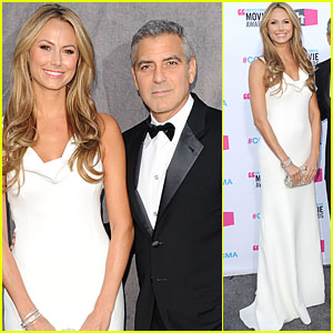 George Clooney & Stacy Keibler - Critics' Choice Awards 2012