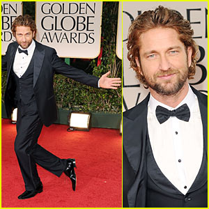 Gerard Butler - Golden Globes 2012 Red Carpet