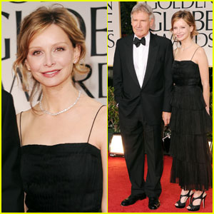 Harrison Ford & Calista Flockheart - Golden Globes 2012 Red Carpet
