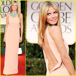 Heidi Klum - Golden Globes 2012 Red Carpet