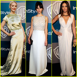 Jaime King & Felicity Jones: Golden Globe Gals!