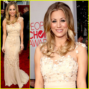 Kaley Cuoco - People's Choice Awards 2012 Red Carpet