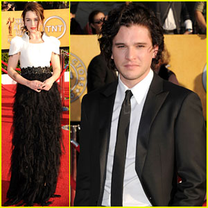 Kit Harington & Emilia Clarke - SAG Awards 2012 Red Carpet