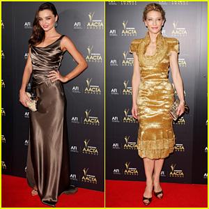 Miranda Kerr & Cate Blanchett: 2012 AACTA Awards!