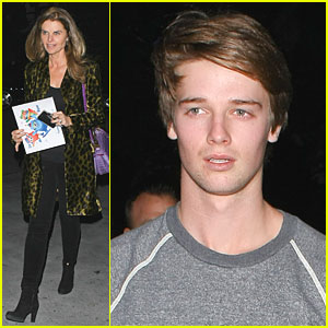 Patrick Schwarzenegger: Staples Center with Mom Maria