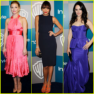 Emily VanCamp & Ashley Madekwe: 'Revenge' Globes Girls!