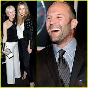 Rosie Huntington-Whiteley & Jason Statham: Globes Party Pair!