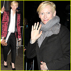 Tilda Swinton: 'The Daily Show' Appearance!