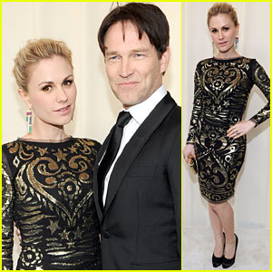 Anna Paquin & Stephen Moyer - Elton John Oscar Party