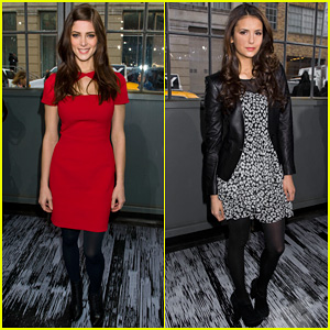Ashley Greene & Nina Dobrev: DKNY Fashion Show!
