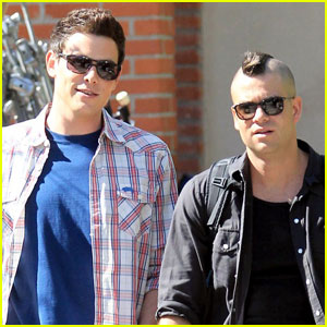 Cory Monteith & Mark Salling: 'Glee' Guys on Set