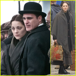 Marion Cotillard and Joaquin Phoenix: On Set for 'Low Life'!