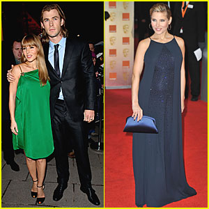 Chris Hemsworth & Elsa Pataky - BAFTAs 2012 Red Carpet