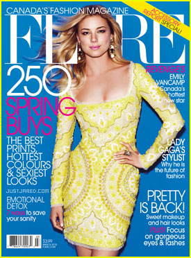 Emily VanCamp Covers 'Flare' March 2012