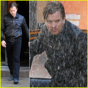 Ewan McGregor: Rainstorm For 'The Corrections'