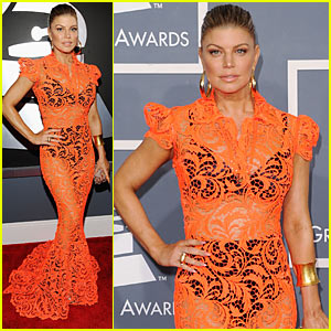Fergie - Grammys 2012 Red Carpet