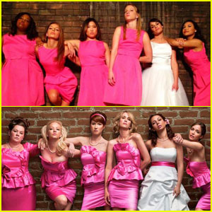 'Glee' Girls Recreate 'Bridesmaids' Poster