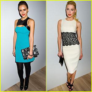 Jessica Alba & Amber Heard: Michael Kors Presentation!