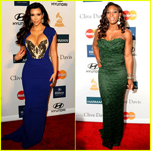 Kim Kardashian & Serena Williams: Clive Davis Party!